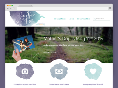 #HonorYourMom mothers day nonprofit