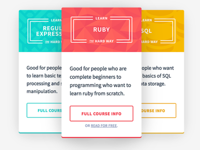 Course Cards pattern card ui