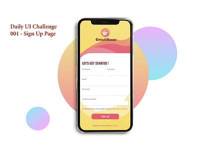 001 SIGN UP PAGE xd design adobe web illustration art branding app ui design daily 100 challenge dailyuichallenge dailyui