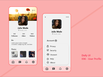 006-User Profile branding adobe art web app design ui dailyuichallenge daily 100 challenge dailyui