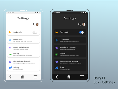 007 - Settings settings settings ui minimal app adobe ui design dailyuichallenge daily 100 challenge dailyui