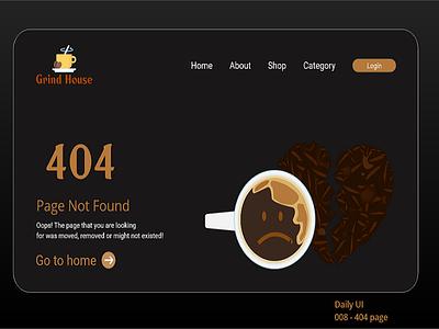 008 - 404 Page logo illustration web minimal ui 404 page adobe design daily 100 challenge dailyuichallenge dailyui