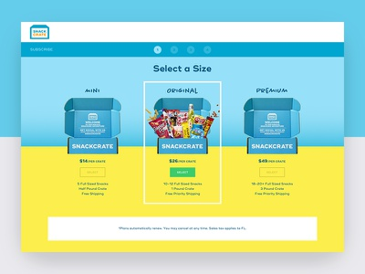 SnackCrate Subscribe candy subscription monthly box webdesign web ux ui website