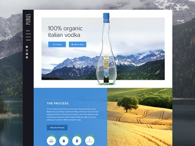 Purus Vodka Homepage organic vodka ux website web webdesign vodka