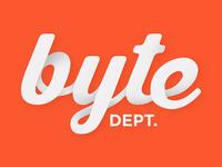 Byte Dept. Inc Script Logo