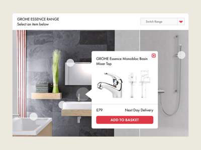 Lifestyle Image Product Selector responsive product selector lifestyle