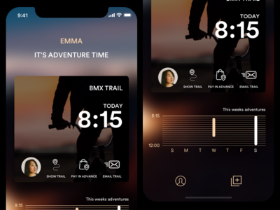 Adventure App notification minimal ios image card iphonex app adventure