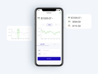 iOS app of cryptocurrency stats
