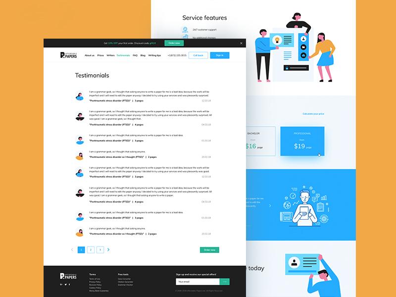 Web service about writing papers web minimal ux design ui design clean ui illustration calculator service interface web service