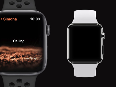 Health app in watch os dark black ae particles health app apple watch ux animation watch ui clean product minimal animation