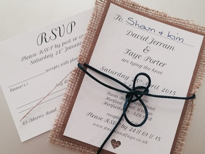 David & Faye Wedding Stationary Prints