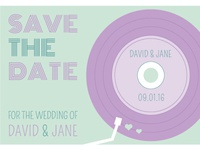 Retro Save the Date Idea