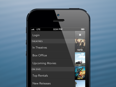 Movies App movies app iphone css menu