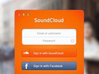 SoundCloud Sign In [.sketch]