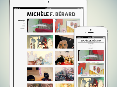 Michèle Bérard Website web responsive css portfolio website