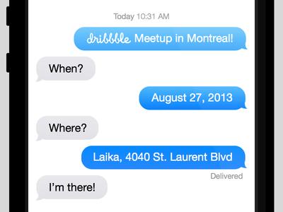 Montreal Dribbble Meetup #3 dribbble meetup montreal ios7 mobile sketch