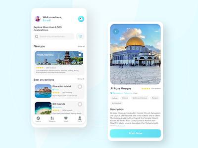 Travel App Design minimal app design ux ui travel ios booking travel app