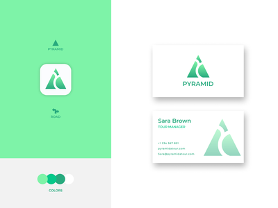 Pyramid Logo illustration design logo