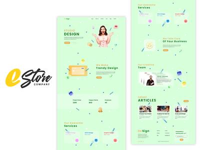 DeSign (Landing Page) web design ux ui