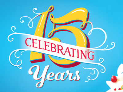 15 Year Anniversary by EB on Dribbble