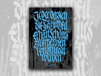 Kafka kafka poster pltnk calligraffiti lettering calligraphy