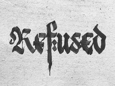 Refused pltnk calligraffiti lettering calligraphy