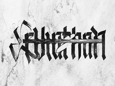 Leviathan pltnk calligraffiti lettering calligraphy