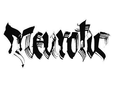 Neurotic interferences experimental alchemy pltnk lettering calligraffiti calligraphy