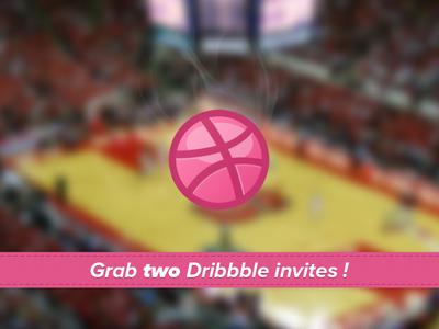 2 Dribbble invites to grab dribbble invite invitation photoshop free contest freebie freebies france draft