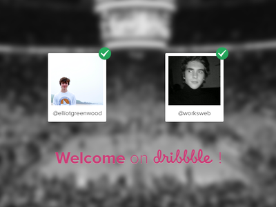 Welcome On Dribbble contest dribbble france winners invite invitations