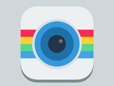 Instagram flat icon free freebies france ios ios 7 iphone icons icon flat instagram redesign