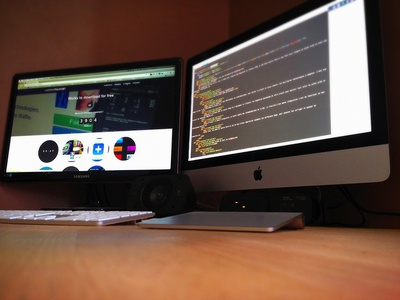 My WorkSpace 2013 workspace desk mac keyboard trackpad imac design france