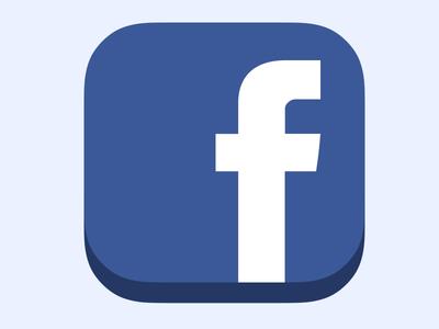 Icon Facebook Flat iOS7 ready v2 psd photoshop facebook icon ios7 france social flat