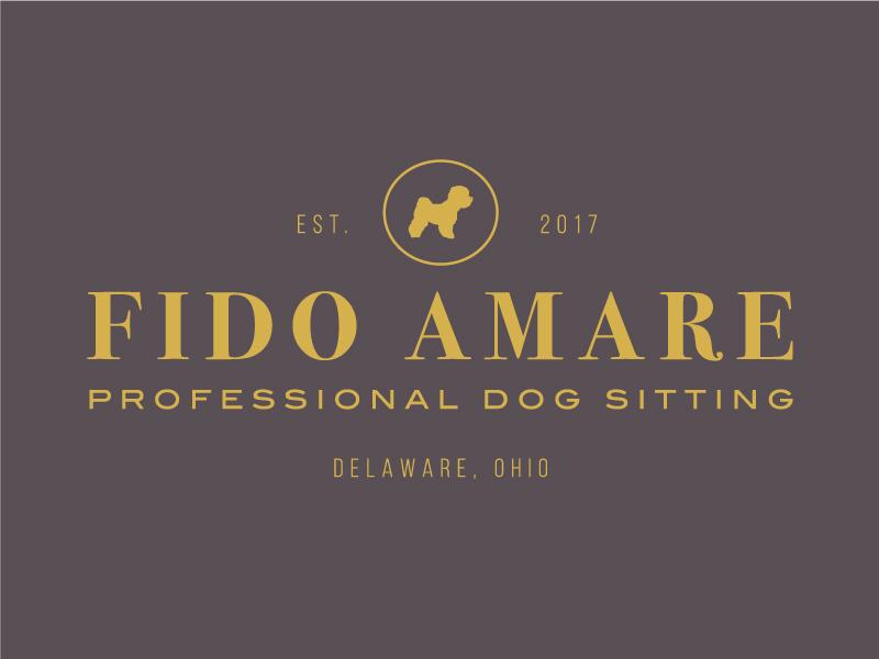 Professional Dog Sitting Logo ohio amare fido business sitter dog pet branding logo