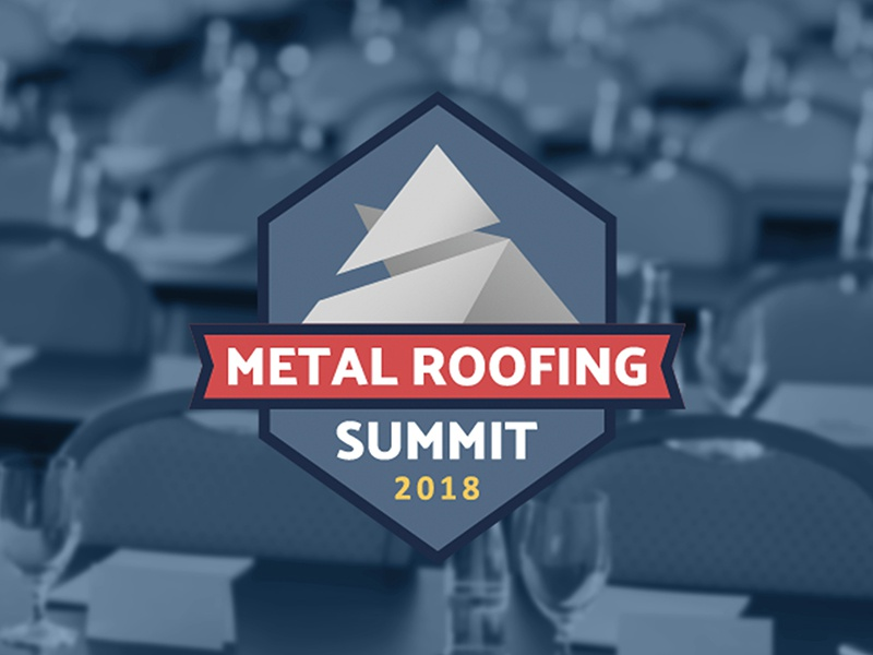 Metal Roofing Summit Logo (Revised) badge metal roofing conference summit logo branding event