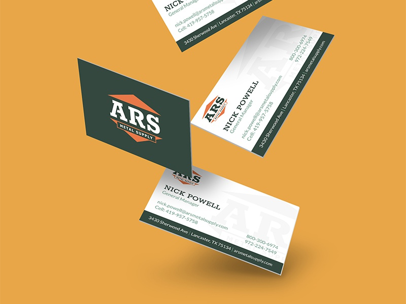 Ars business card mockup