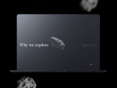 Space.io - Why we explore typography minimal comet ux blog 3d vr frontend horizontal space