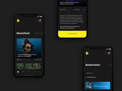 Montreux Jazz Insider swiss festival music animation app design minimal ui interaction ux