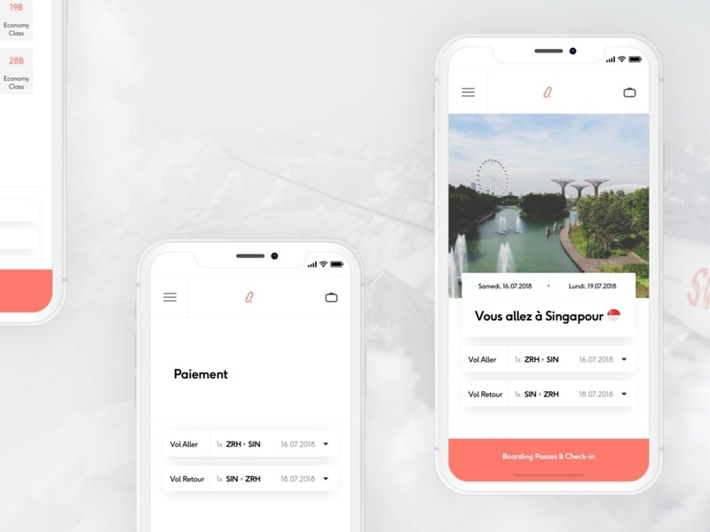 Attimo swiss concept ux app travel airplane flight trip minute last