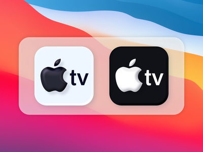 Apple TV Icons macOS Big Sur vector illustration affinity designer affinity appletv bigsur icons icons icon apple skeumorphism skeumorphic macos icon bigsur macos vector illustration design