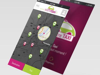 VotreTaxi android ios ui design mobile app