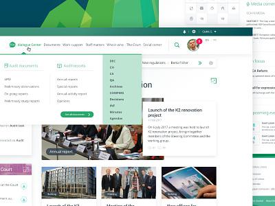 Intranet ui web design intranet