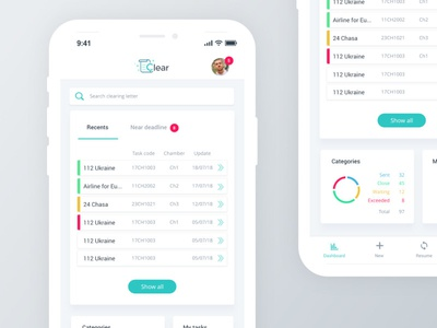 Clear App Mobile ui design application mobile