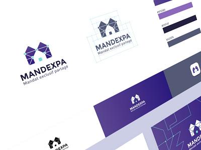 Mandexpa ui design graphic identity logo