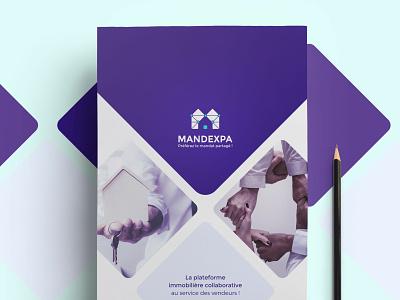 Mandexpa A4 branding graphic illustration print identity design