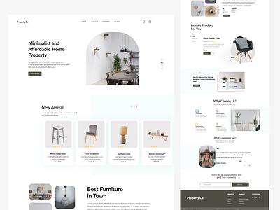Furniture Landing Page furnitureshop websitelayout appui ecommerce landingpage websitelandingpage ui layout uiux uidesign