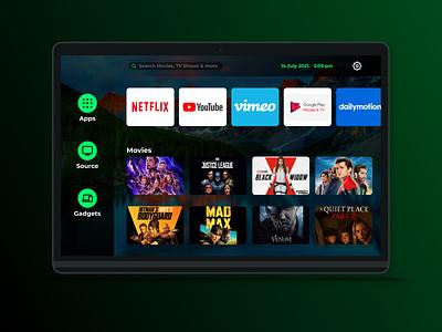 Daily UI #025 - Smart TV App smart tv netflix youtube movie dahsboard tv app tv illustration figma dailyui ui interface experience interface design design app
