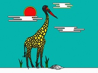 Saddle-billed stork x Giraffe