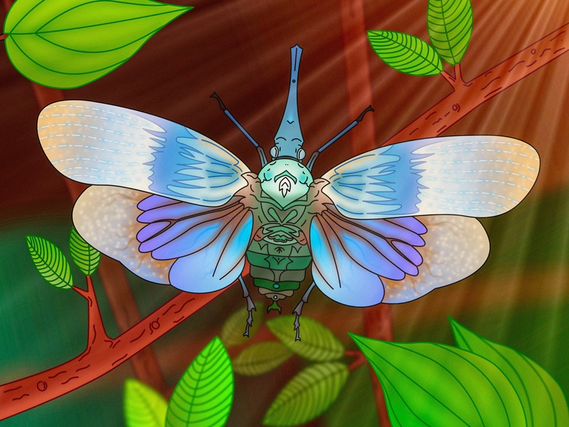 Pyrops Heringi in nature affinity digital animal digitalanimal nature illustration illustration free fly bug insect nature art