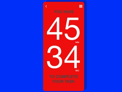 Countdown timer mobile designs countdown timer brand app identity lettering type minimal clean branding typography ux color ui design